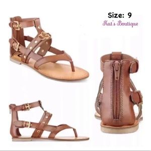 Guess Flat Gladiator Sandals Size: 9